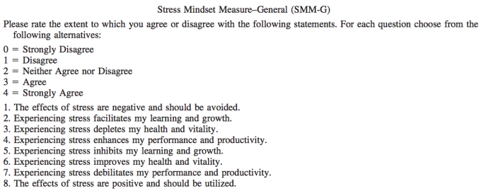Stress Mindset Measure